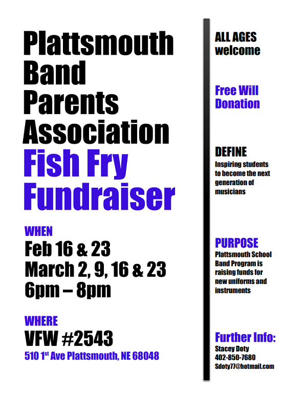 Plattsmouth Band Parents Fish Fry