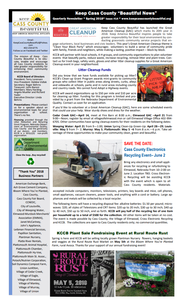 KCCB Newsletter pg1