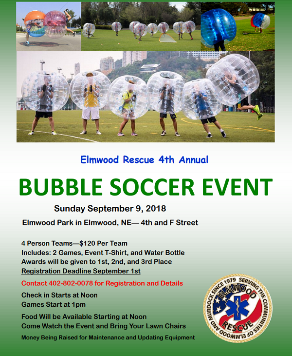 Bubble Soccer Elmwood