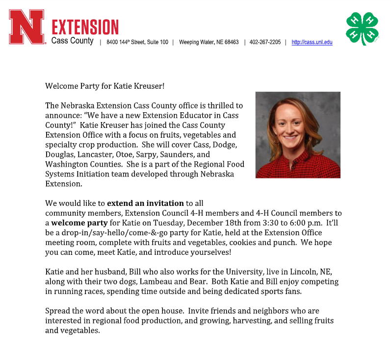 Extension party 1218