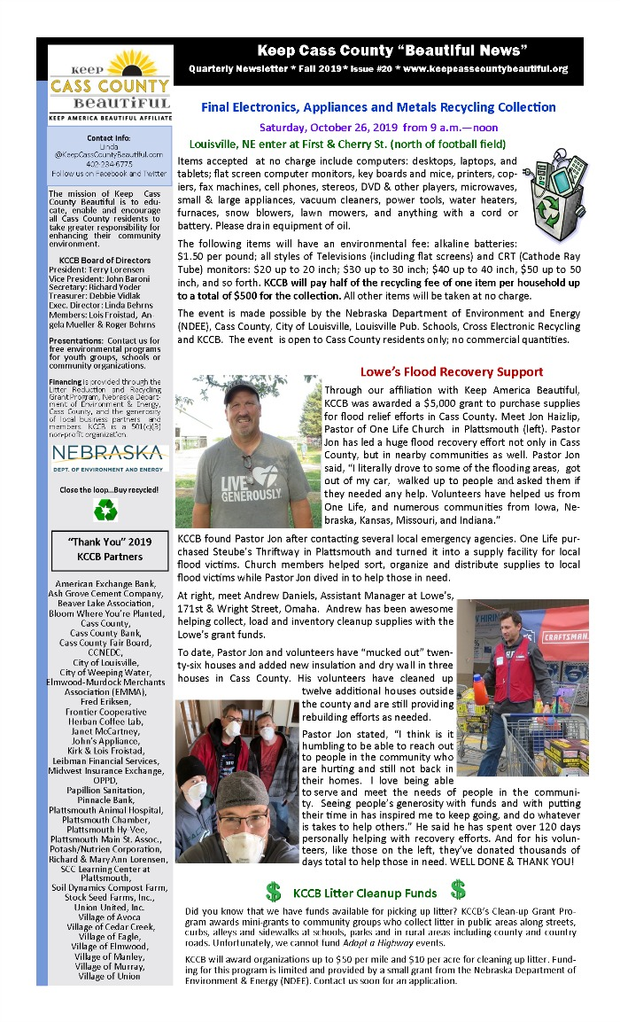 KCC 2019 fall Newsletter pg1