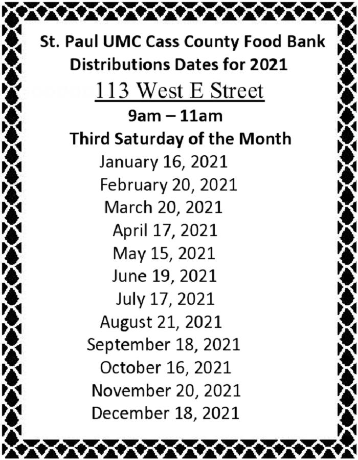 Food Bank 2021 dates page0001